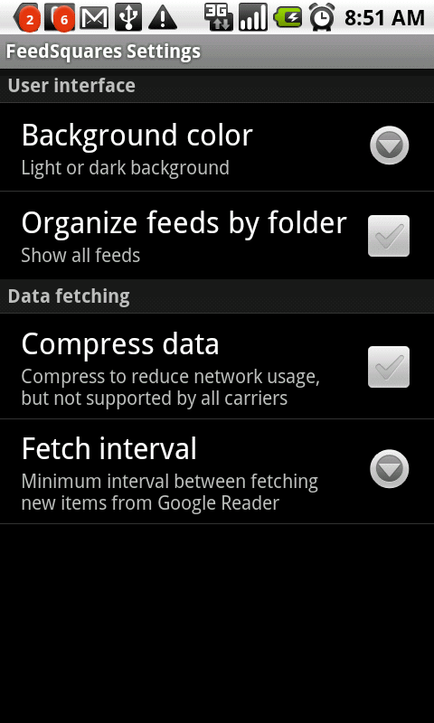 feedsquare settings