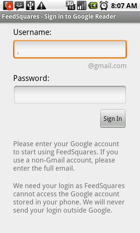 feedsquares login
