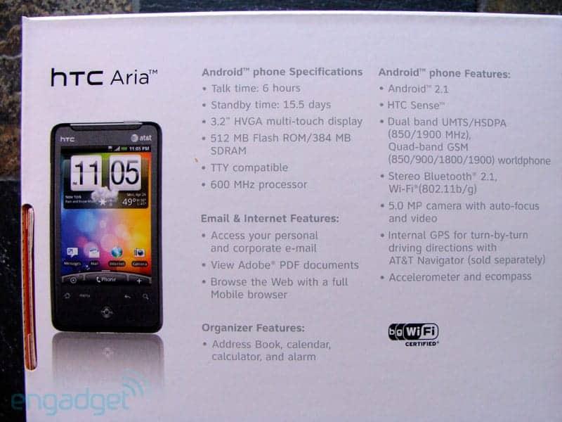 HTC Aria unboxed2