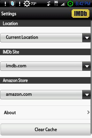 IMdb settings