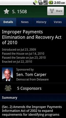congress app screen