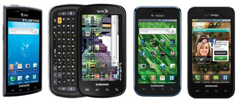 Samsung Galaxy S Family: Captivate (AT&T), Epic 4G (Sprint), Vibrant (T-Mobile) and Fascinate (Verizon)