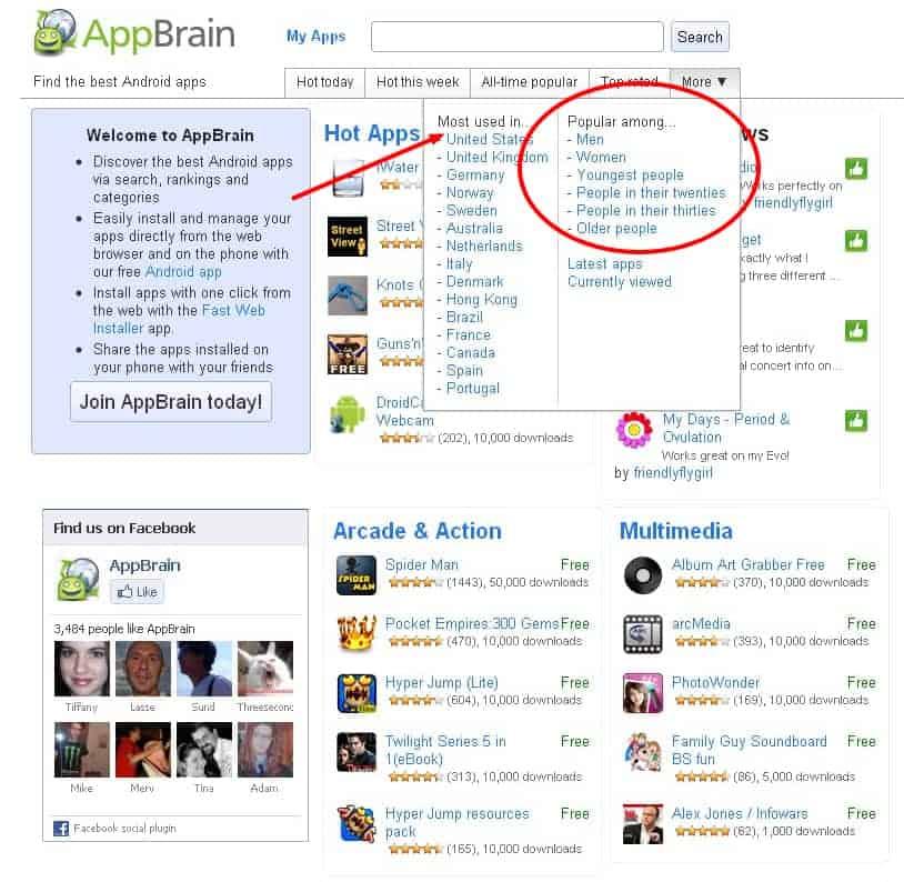 appbrain-new-categories