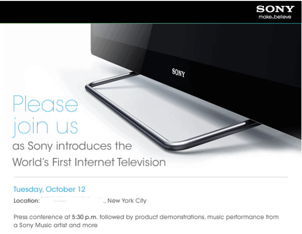 Sony-Google-TV-announcement