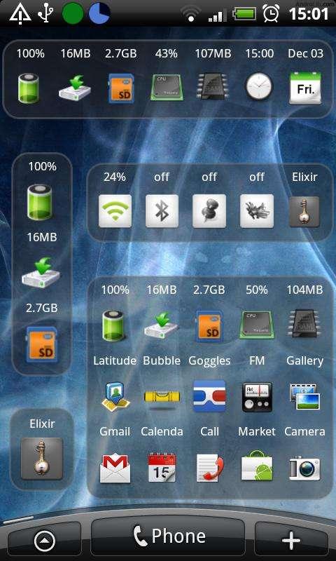 Elixir-Android-Widgets