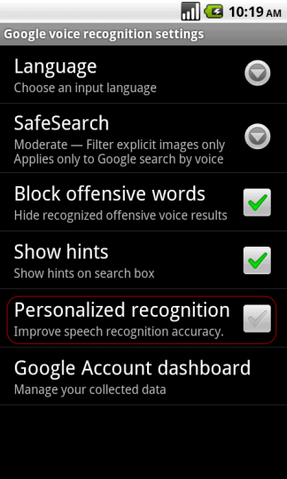 screenshot voice recognition