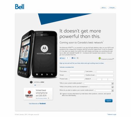 Bell Motorola Atrix