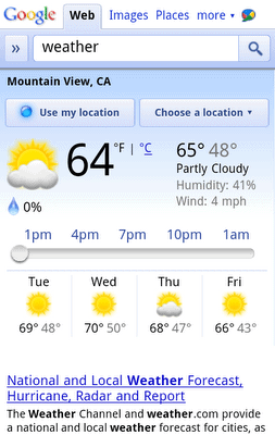 screenshot google weather