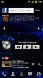 Liquid Gingerbread FaceBook, Music, and YouTube widgets