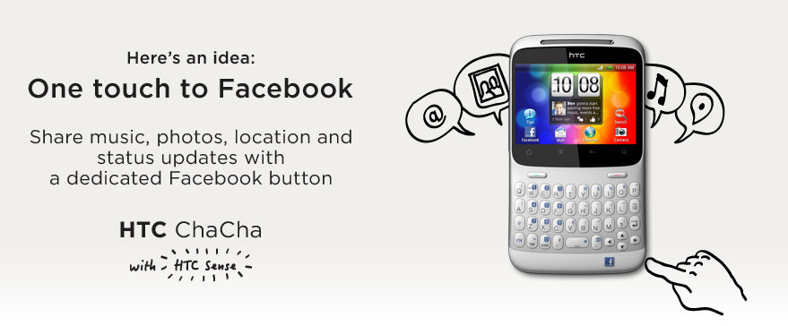 HTC ChaCha Product Banner