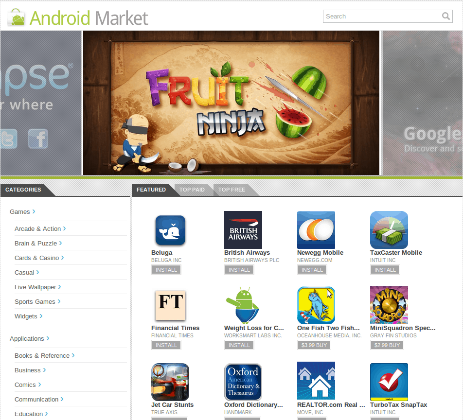 web android market