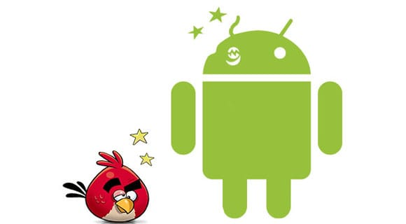 Angry Birds and Android logo