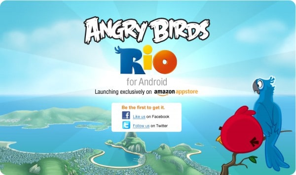 Angry Birds Rio Amazon Banner