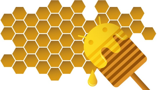 honeycomb android illustration