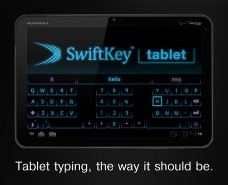 swiftkey tablet xoom ad21