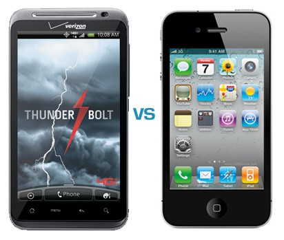 thunderbolt vs iphone