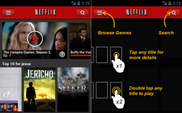 Featured: The Netflix Android App To Get Nice New UI