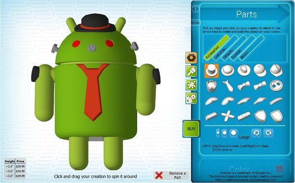 Customize your Android on Cubify