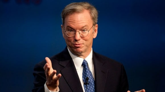 Featured: Google Chairman Eric Schmidt Talks Working With Apple And The Patent Wars
