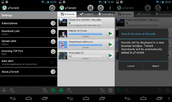 Featured: Goodbye Mobile Data Caps! uTorrent Launches On Android