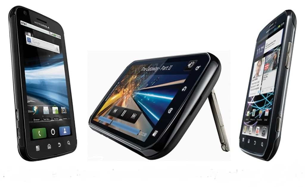 A image of the Motorola Atrix, Electrify, and Photon