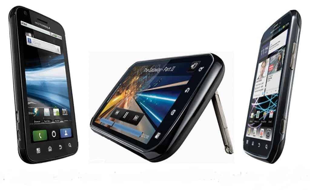 A image of the Motorola Atrix, Electrify, and Photon