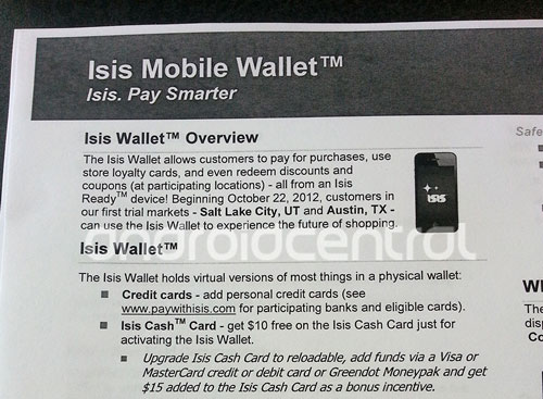 Isis Mobile Wallet feature