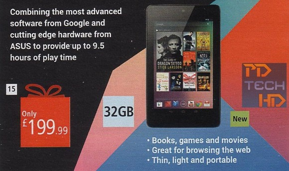 Featured: 32GB Nexus 7 Will Be Available In UK For Just £199.99