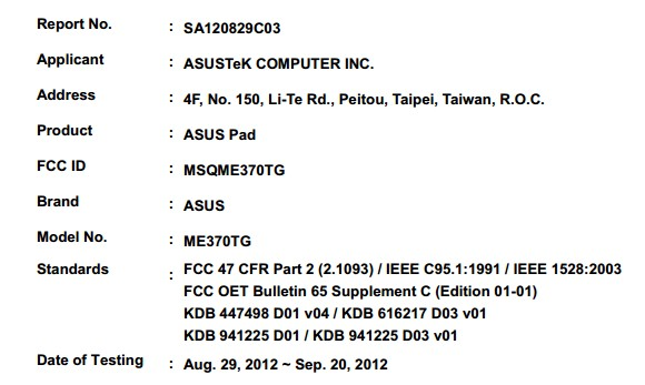 Featured: 3G Nexus 7 Has Been Confirmed Thanks To FCC