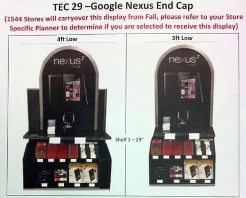 Nexus 7 8GB Endcap feature