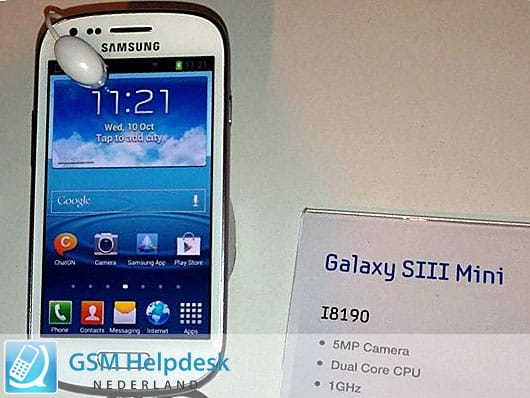 Featured: More Details Leak About The Samsung Galaxy S III Mini