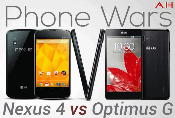 Phone Wars 1 Nexus 4 Vs Optimus G