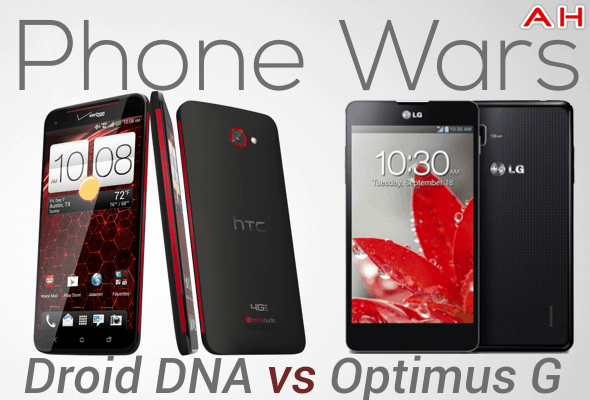 Phone Wars DRoid DNA VS Optimus G