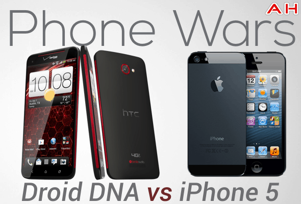 Phone Wars Droid DNA Vs iPhone 5
