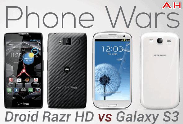 Phone Wars Droid Razr HD Vs Galaxy S3