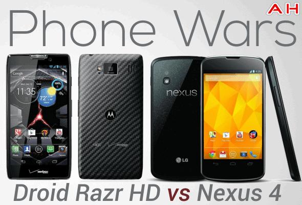 Phone Wars Droid Razr HD Vs Nexus 4