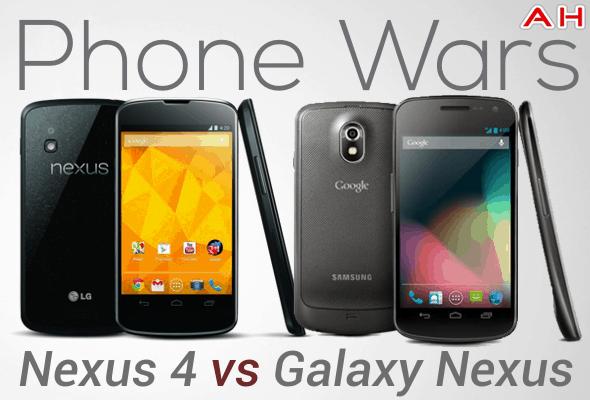 Phone Wars Nexus 4 VS Galaxy Nexus