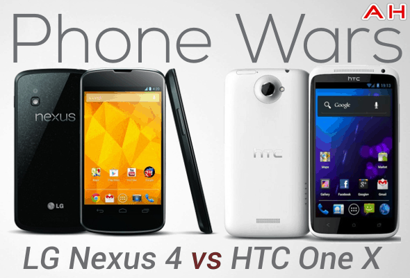 Phone Wars Nexus 4 VS HTC One X