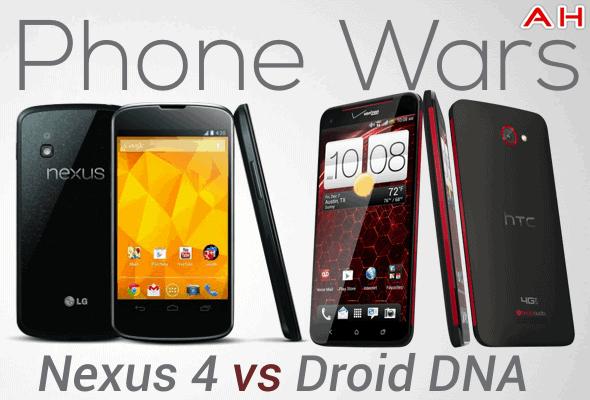 Phone Wars Nexus 4 Vs Droid DNA