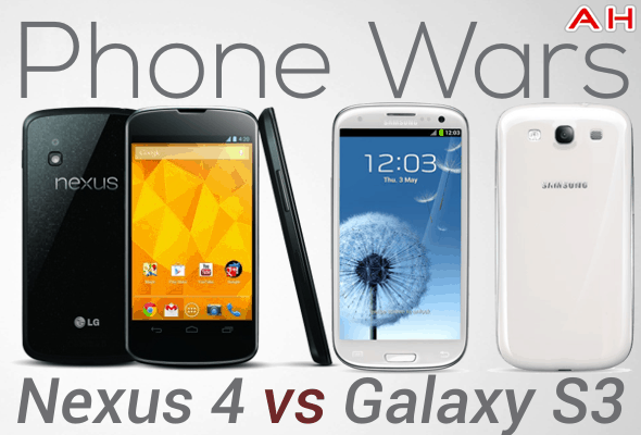 Phone Wars Nexus 4 Vs Galaxy S3