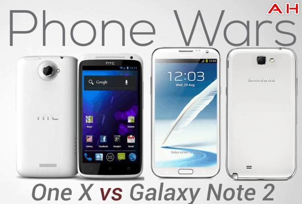 Phone Wars One Vs Galaxy Note 2