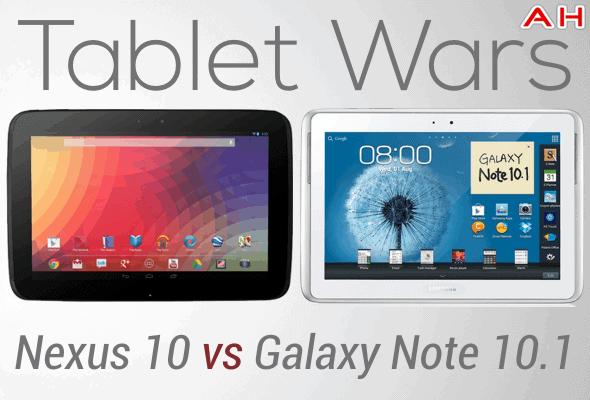 Tablet Wars Nexus 10 Vs Galaxy Note 10.1