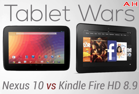 Tablet Wars Nexus 10 Vs Kindle Fire HD 8.9