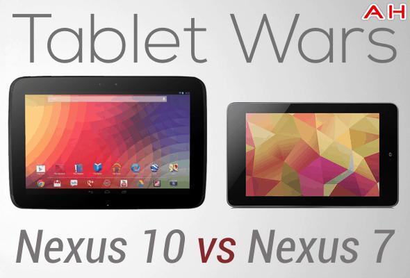 Tablet Wars Nexus 10 Vs Nexus 7