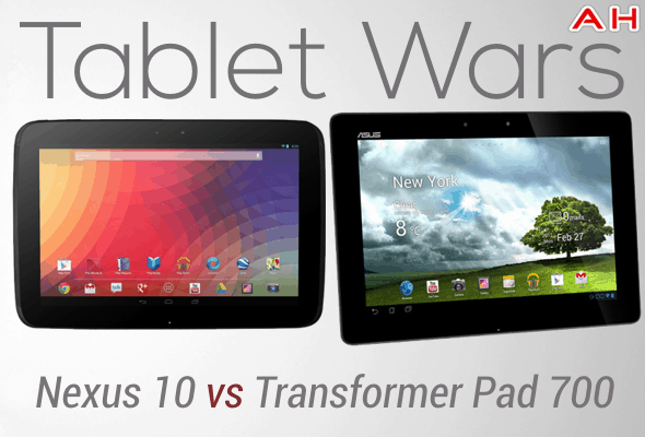 Tablet Wars Nexus 10 Vs transformer pad 700 infinity