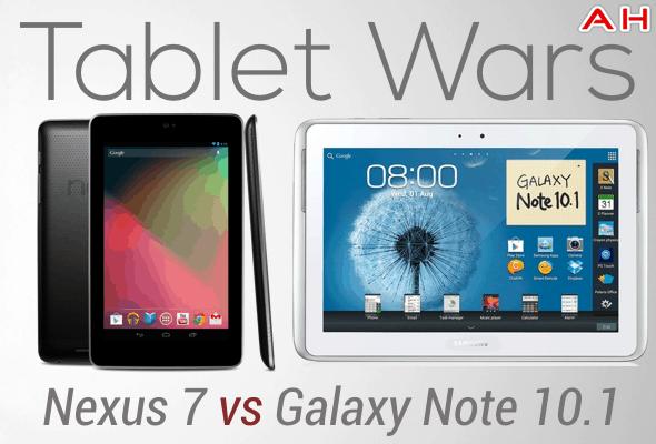 Tablet Wars Nexus 7 Vs Galaxy Note 10.1