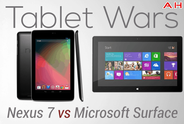 Tablet Wars Nexus 7 Vs Microsoft Surace