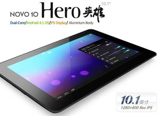 Novo 10 Hero Tablets Take On Nexus 10, Stock Jelly Bean, Super Low Price