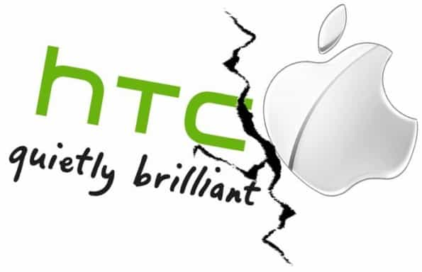 HTC and Apple Logo bearing a rip in the middle