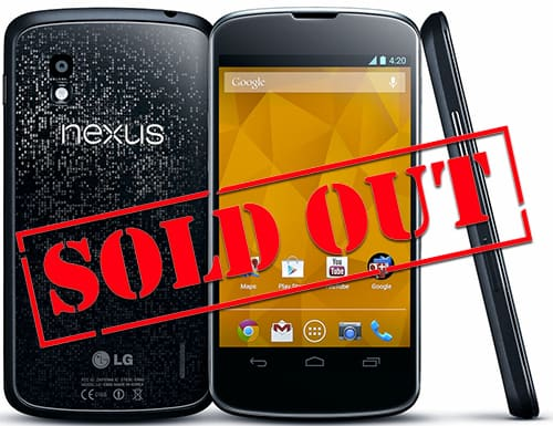 lg nexus 4 sold out1